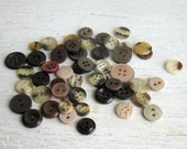 50 vintage brown buttons for your creations