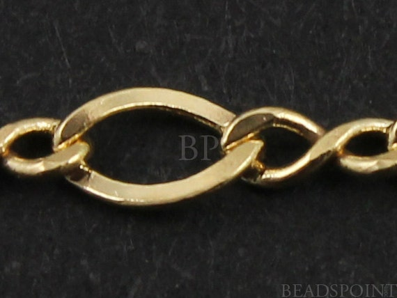 14k Gold Filled Figure 8 Chain,  Bright Polished 4  x 2 mm Oval Links alternating 3 x 1.5 mm figure eight, GF-2617  (13)
