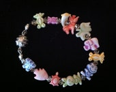 Made to Order Girls Bracelet Colorful Cute Animal Crackers Adult Size Available