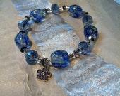 Charming Blue Flower Bracelet