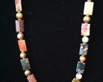 Elegant Marbled Jasper Necklace