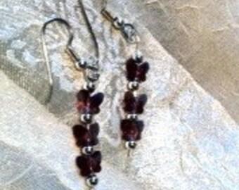 Darling Amethyst Butterfly Earrings
