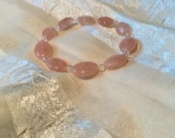 Pretty as a Picture Pinky Rose Quartz Bracelet