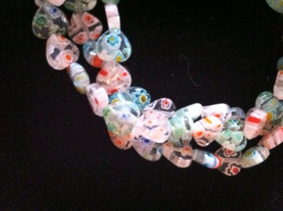 Endless Love Endless Necklace or Bracelet Murano Millefiori Hearts