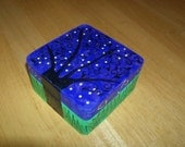 Fantasy Tree Box, wooden box, trinket box