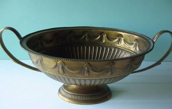 Brass Compote Bowl, Compote, Large Brass Dish, Table Setting, Home Decor, Wedding Decor