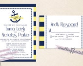 Anchors Away - Nautical Inspired Wedding Suite Design Featuring Hidden Mickey's