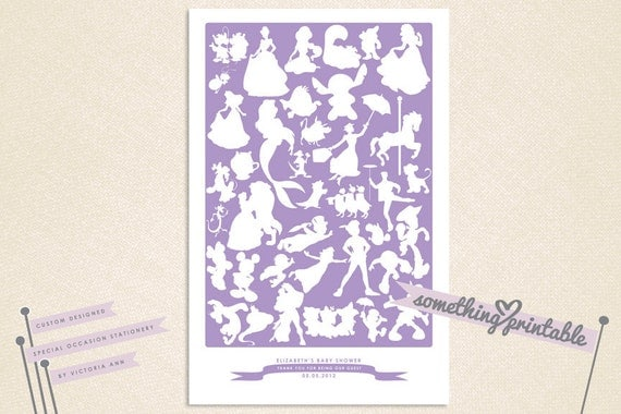 Be Our Guest Disney Character Signature by SomethingPrintable