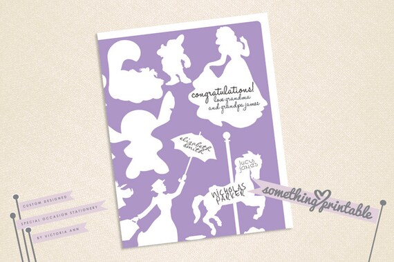 Be Our Guest Disney Character Signature Guest Book Print