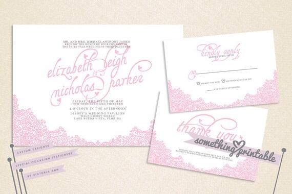 Ornate - Elegant Disney Inspired Do It Yourself Printable Wedding Suite