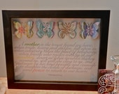 Forever Card With butterflies and poem mounted in a shadow box (personalization available)