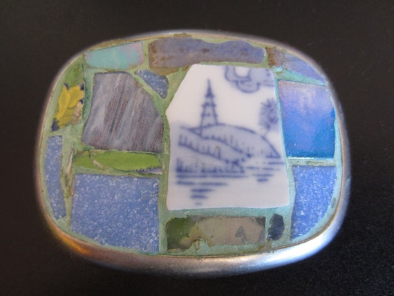 Over The Hills And Far Away Mosaic Belt Buckle