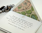 Stamped Summer White Rose Stationery Set: Paris lined envelopes