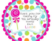 Lollipop Round Labels Stickers for party favors, gift tags, or address labels