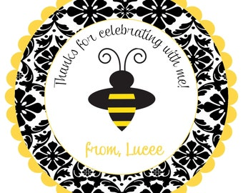 Bumblebee  Bee Labels Stickers for party favors, gift tags, or address labels reserved for Maria