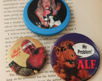 Three 80s Buttons