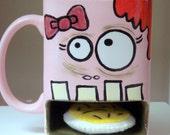 Zombie Mug- Girl- Pink Milk and Cookies Dunk Mug