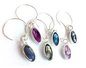 Elegant Wine Charm Set Oval Colorful (6/set), easter wine charms, purple wine charms, pink wine charms, housewarming
