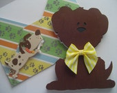 Brown Dog with Yellow Bow Children's Card