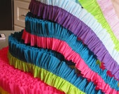 Ruffled Bi-color Crepe Paper Streamers