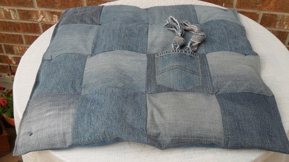 Dog Bed - Recycled Jean Dreams