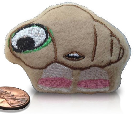 Marcel the Shell beanie plush toy:  Soft fleece toy with machine embroidered face, filled with plastic microbeads