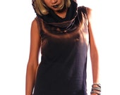 Oasis hood dress, punk glamorous super cool model, sexy and easy to wear.