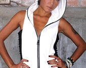 Ninja hood top woman, punk glamorous super cool model, sexy and easy to wear.