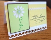 "Spring Themed ""Thinking of You"" Card with Flower"