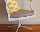Vintage Wooden Office Desk Chair