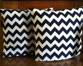 16x16 Chevron pillow cover set.