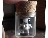 lil skeleton in a jar pendant