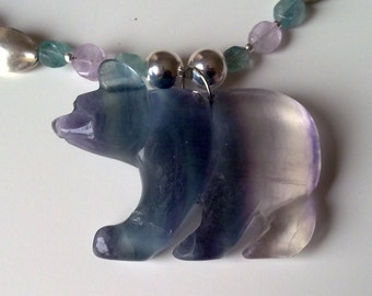 ENDEARING bear pendent on necklace