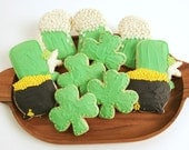St Patricks Day Sugar Cookies with Buttercream Frosting