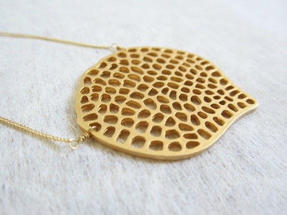 18k Gold Plated charm necklace on Gold fill chian.