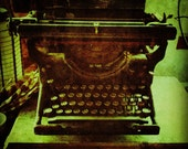 """8"""" x 8"""" Antique Typewriter photo by Andy Deane"""