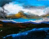 Deborah Watkins Original Acrylic Painting - ' Evening Sky '