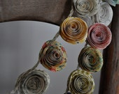 Paper Flower Garden Party Garland- Spring colors
