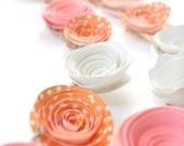 Pink - Orange Paper Flower Garland- Party Decorations