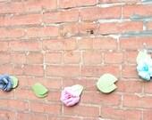 Paper flower Garland Pink Gray blue Bridal Shower Garland- 10 feet