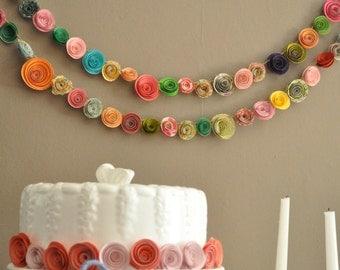 Colorful Paper Flower Garland Shower garland Wedding Flower Garland