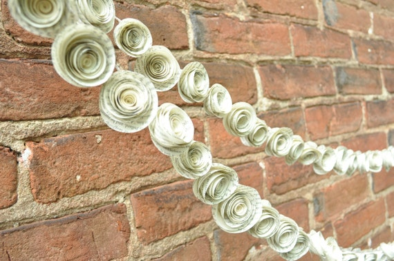Wedding Garland Paper Flower Wedding garland Upcycyled Book Pages 10 feet