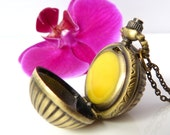 RESERVED for Krystle - Solid Rose and Vanilla Perfume in Ladies Orb Sphere Watch Locket Case