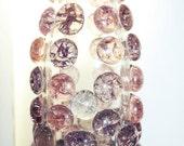 NEW Shatter Glass Gem Tea Light Jar - Petals
