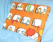 Dr. Seuss' The Lorax, The Once-ler, and the Truffula Trees in Orange and Blue Makeup Bag or Pencil Case
