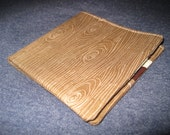 Men's Bifold Wallet- 1960s- MOD Style Hipster Tree Bark with Multicolor Fruit Pears and Apples