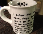 Coffee cup/mug - you personalize