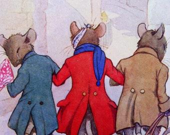 1910s Three Blind Mice NURSERY RHYME Print