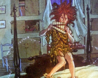80s PETER PAN and Panpipes DOUBLEDSIDED print