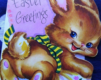 40s EASTER BUNNY CARD